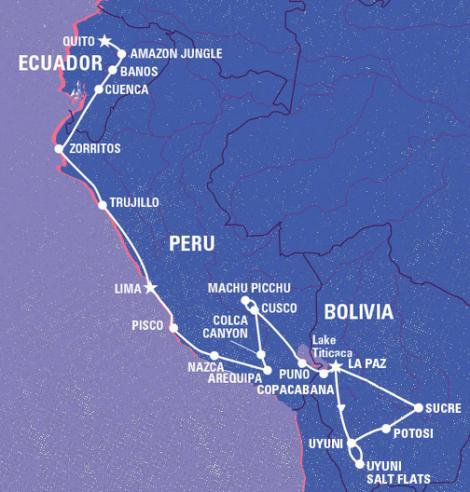 SA Trip Map