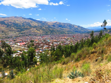 Huaraz from the lookout!