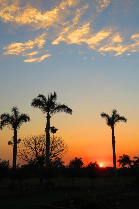 Beutiful sunset at the Hacienda.