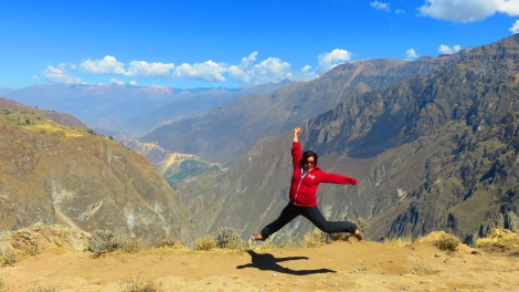 JUMP for Colca Canyon! The canyon is twice as deep as the Grand Canyon!