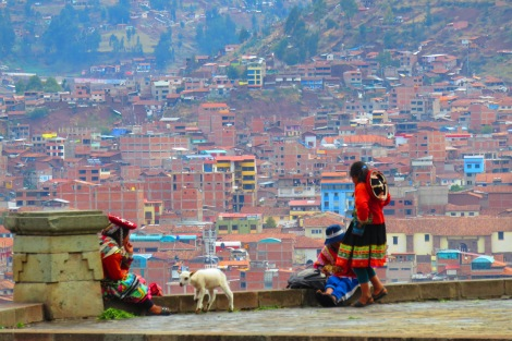 We made it to Cuzco after a gruelling night bus (I can never sleep on those!) and enjoyed the city tour the next day. It brought us to this lovely lookout.
