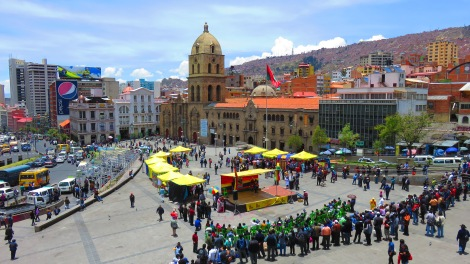 Plaza San Francisco... some kind of celebration (complete with terrible magic show) was going on!